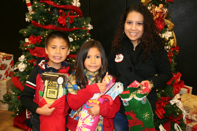 Women's Empowerment graduate receives holiday stocking