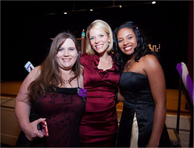 Women's Empowerment graduates meet KCRA's Eileen Javora who emceed last year's Gala.
